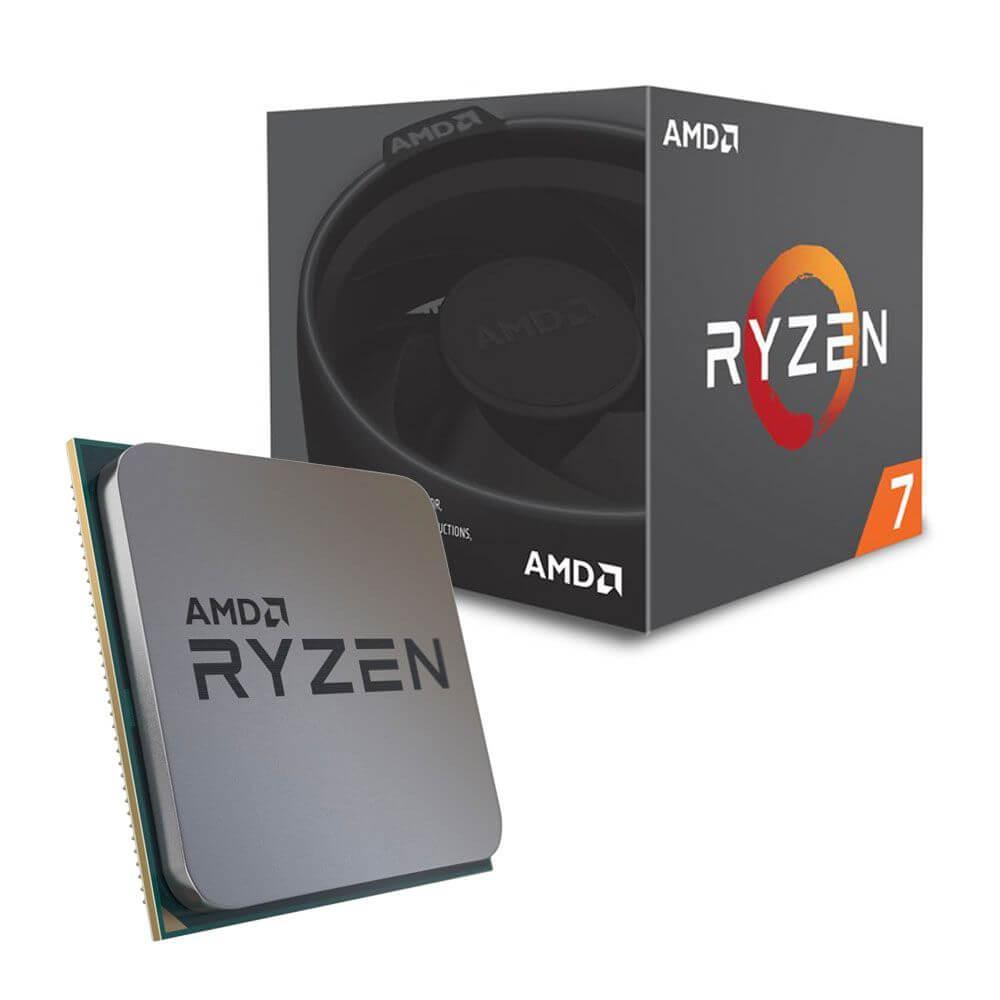Processador AMD Ryzen 7 2700 Octacore Cache 20MB 4.1GHZ AM4 Cooler Wraith Spire com Led