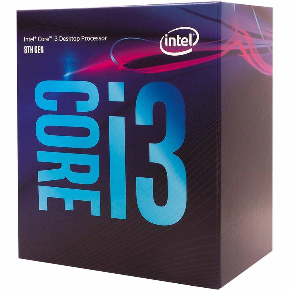 Processador Intel I3 8100 Coffee Lake LGA 1151 3.6GHZ  BX80684I38100