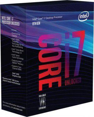 Processador Intel I7 8700K Cache 12MB, 3.7GHZ 8ª Geração - BX80684I78700K