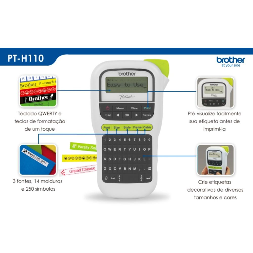 Rotulador Eletrônico Brother PT-H110 P-TOUCH PT-H110 PTH110