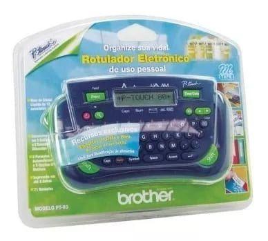Rotulador Eletrônico Portátil AZUL PT80 Brother PT-80 PT80