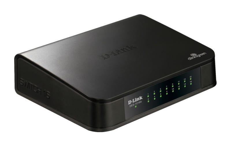 Switch de Escritório 10/100Mbps D-Link DES-1016A