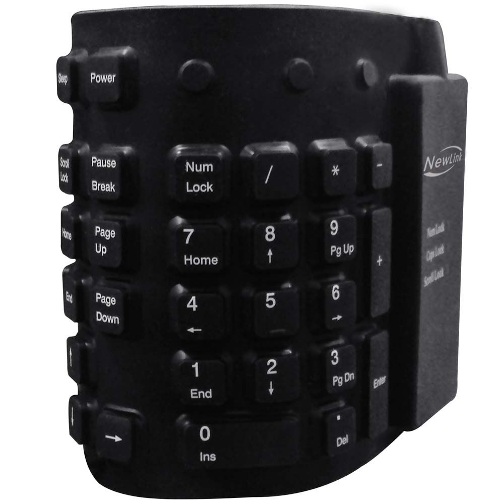 Teclado e Mouse Sem Fio Multilaser Multimídia Slim 2.4Ghz ABNT2 Preto - TC202