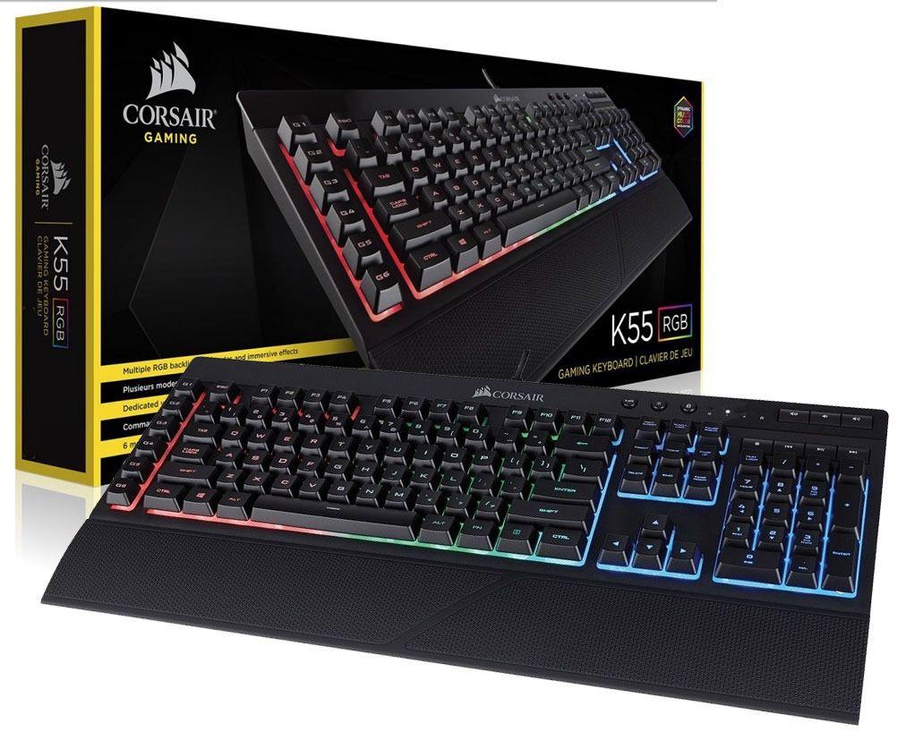 Teclado Gamer Corsair K55 RGB - CH-9206015-BR