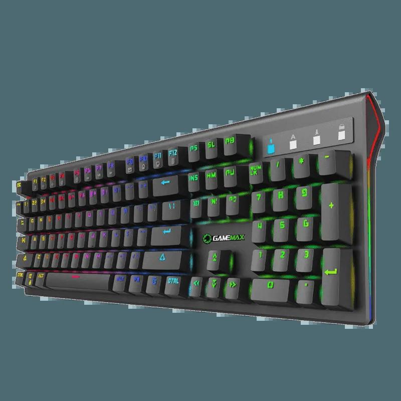 Teclado Gamer Mecânico GameMax KG801RGB Switch Blue