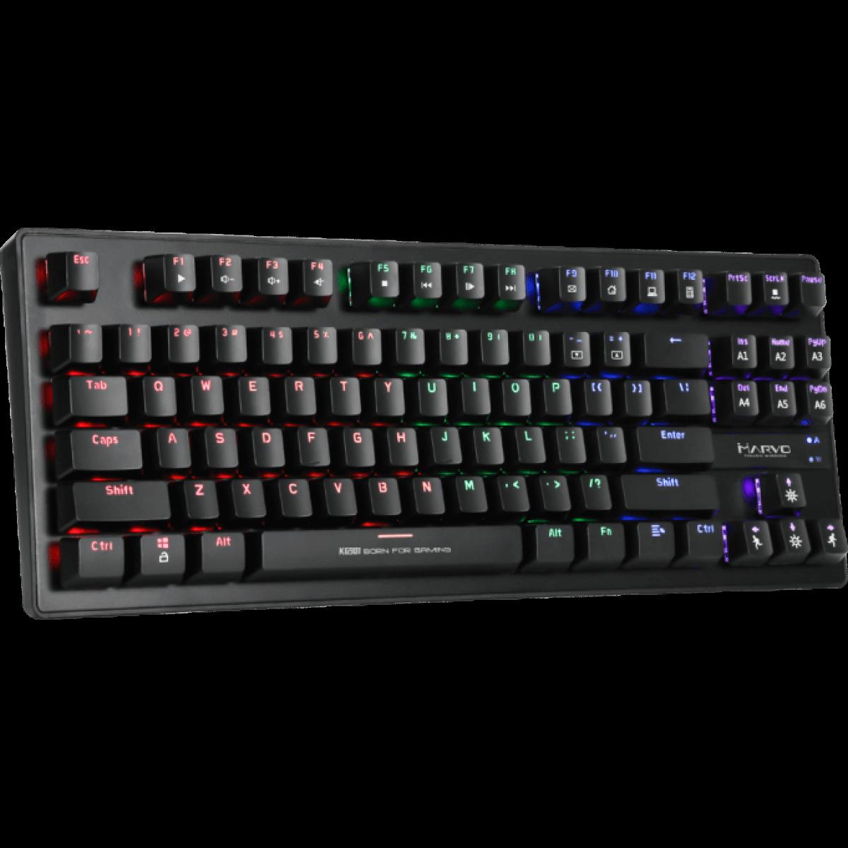 Teclado Gamer Mecânico Marvo KG 901 Switch Blue Rainbow