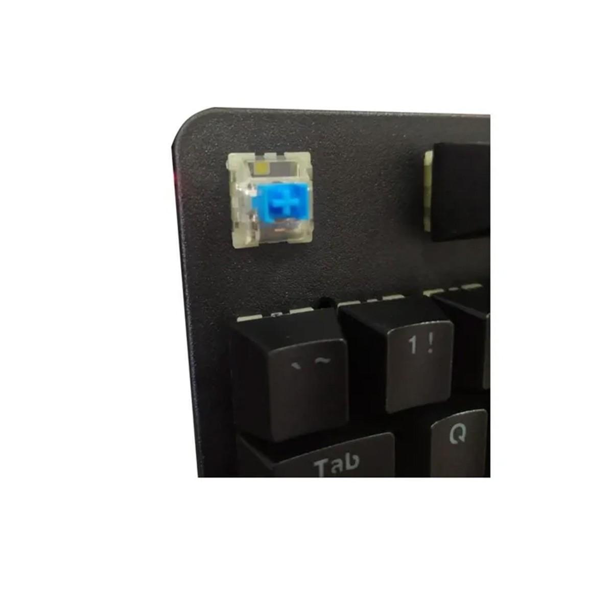 Teclado Gamer Mecânico Xtrike Me GK-916 Rainbow Switch Blue ANSI Black