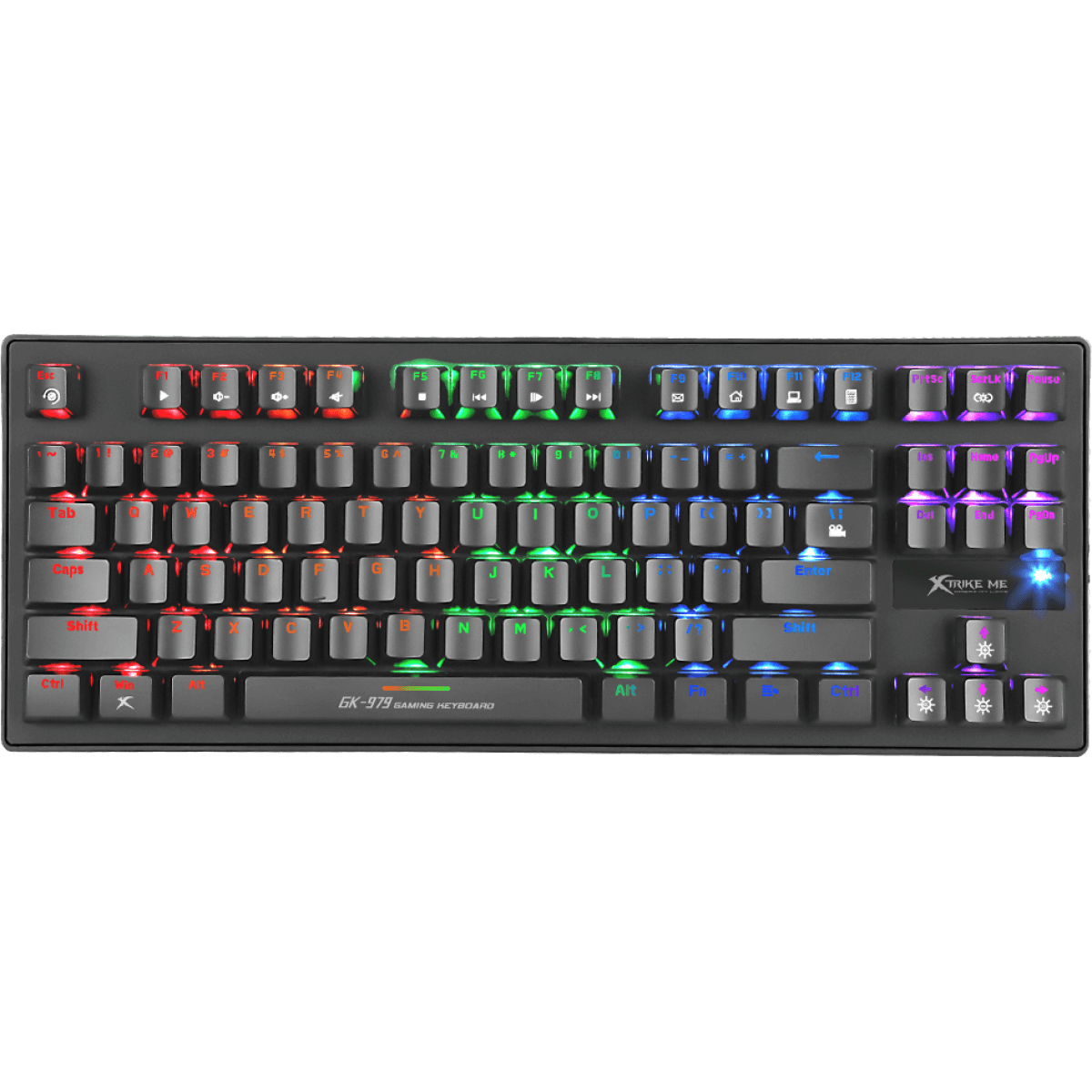 Teclado Gamer Mecânico Xtrike-me GK-979 Switch Blue Rainbow