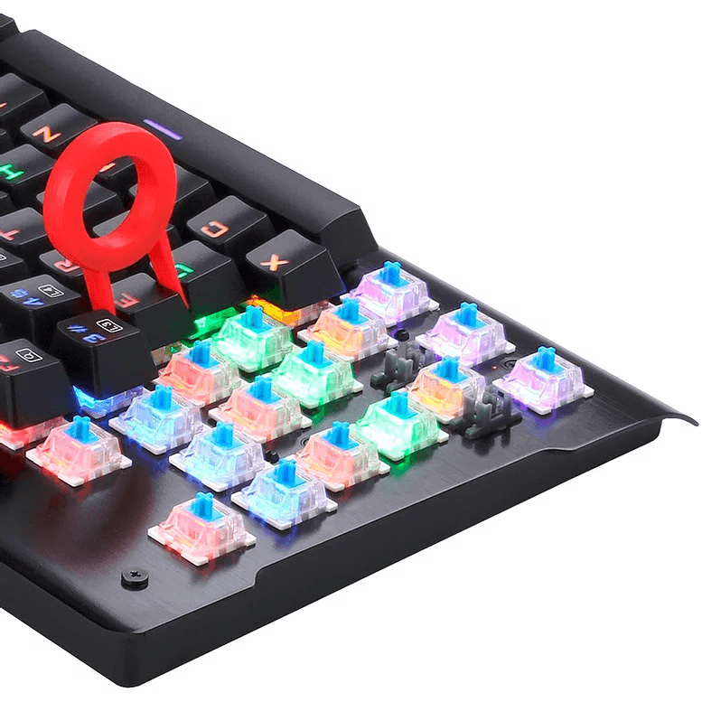 Teclado Gamer Redragon Visnu Mecanico Switch Blue - K561R