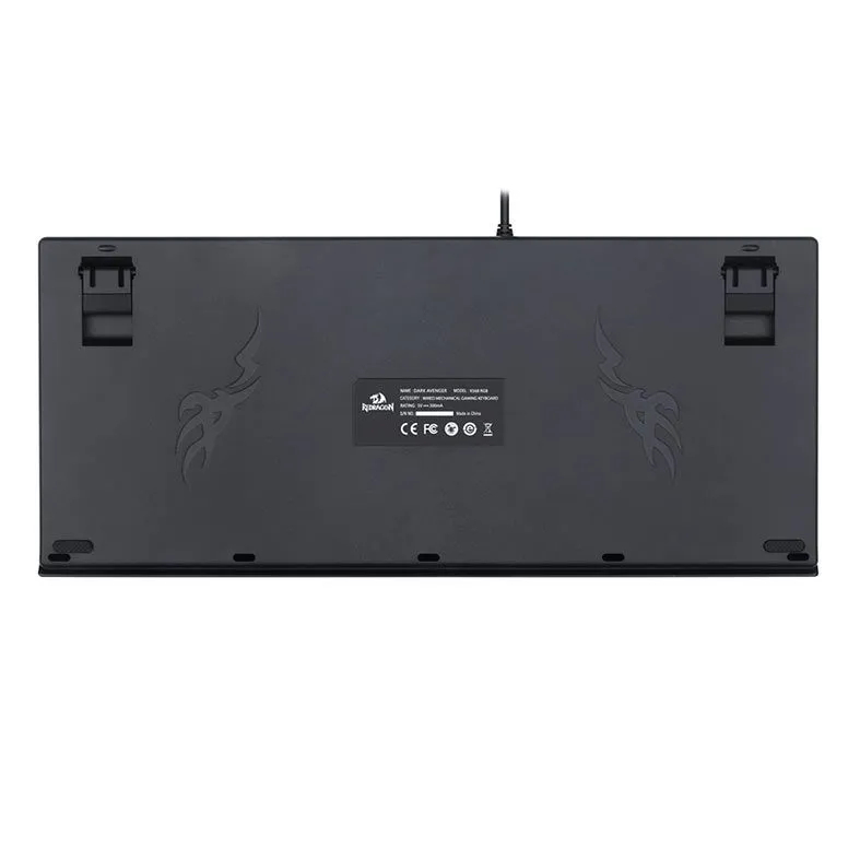 Teclado Mecanico Redragon Dark Avenger RGB Switch Brown K568RGB-2 Marrom