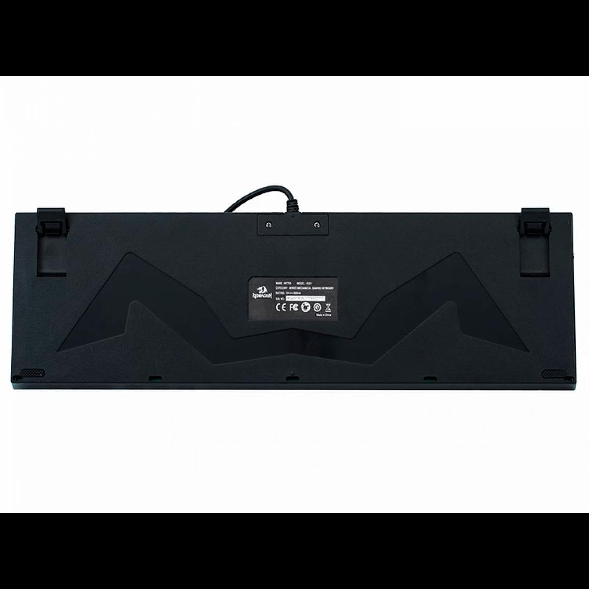 Teclado Mecanico Redragon Single Color Mitra Switch Blue K551-1