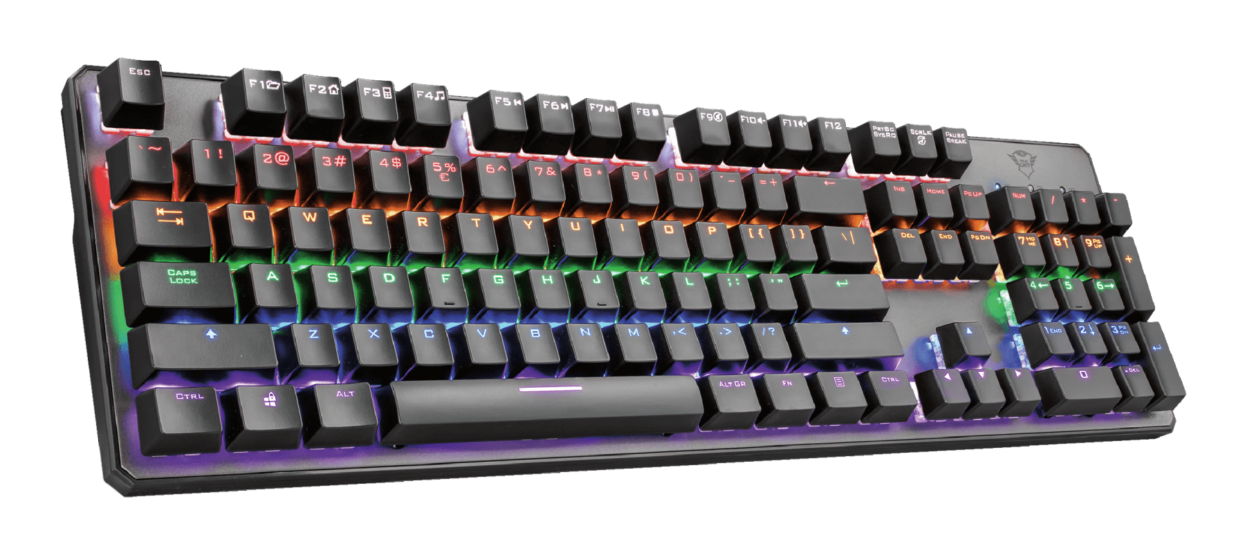 Teclado Mecânico Trust GXT 865 Asta Led 7 Cores Switch Linear Red - 22630