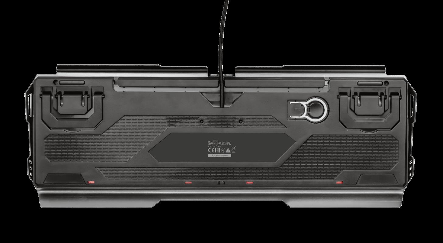 Teclado Mecânico Trust GXT 877 Scarr Led Rainbow Switch Linear Red - 23385