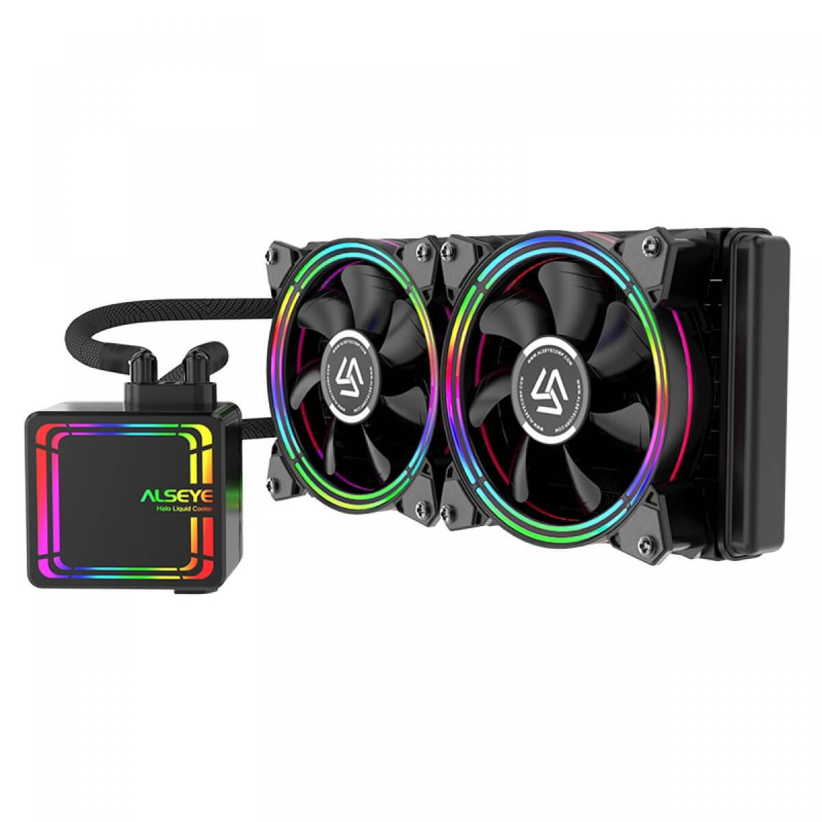 Water Cooler Alseye H240 Black 240mm RGB Intel AMD