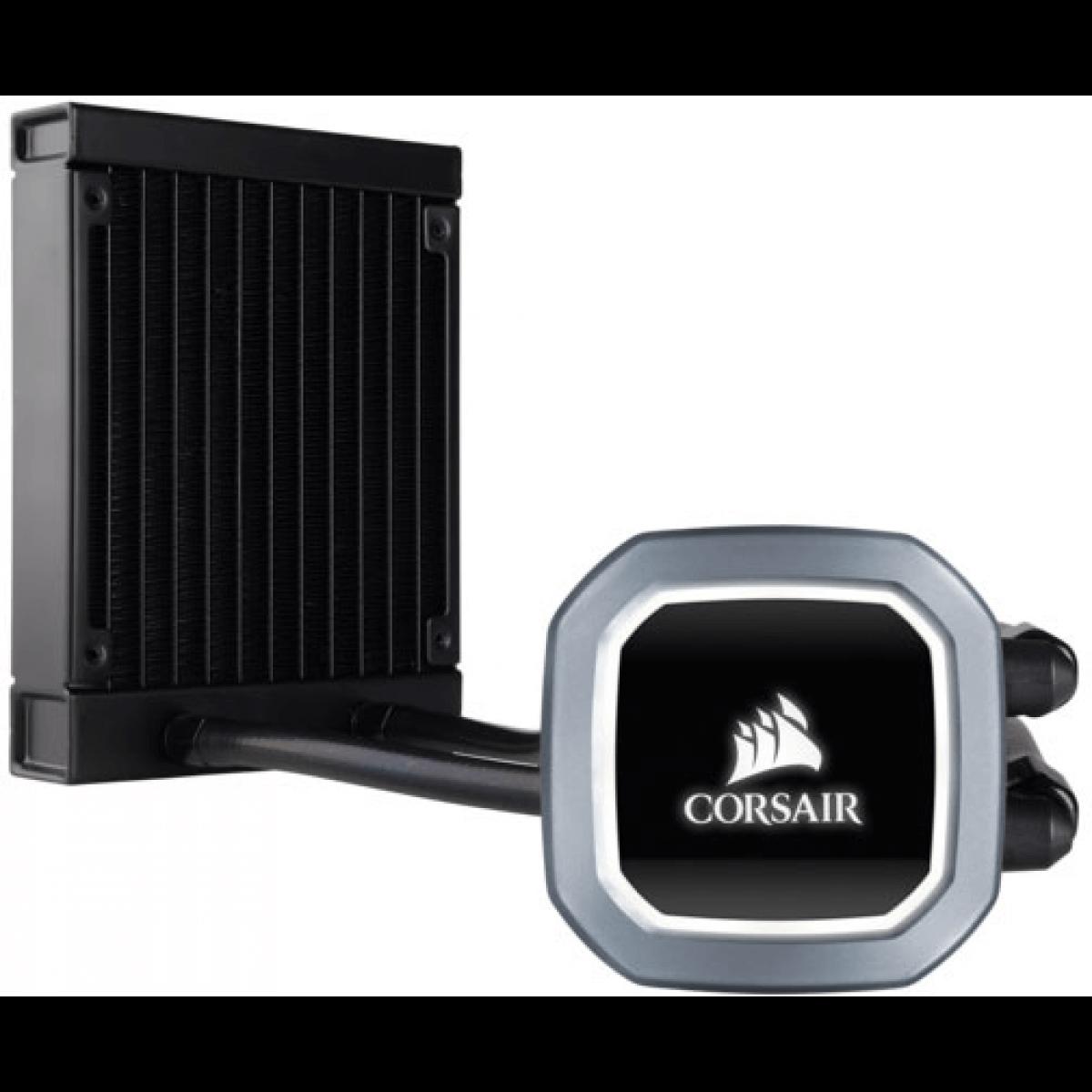 Water Cooler Corsair H60 Hydro Series120mm com Led Branco Intel/AMD CW-9060036-WW