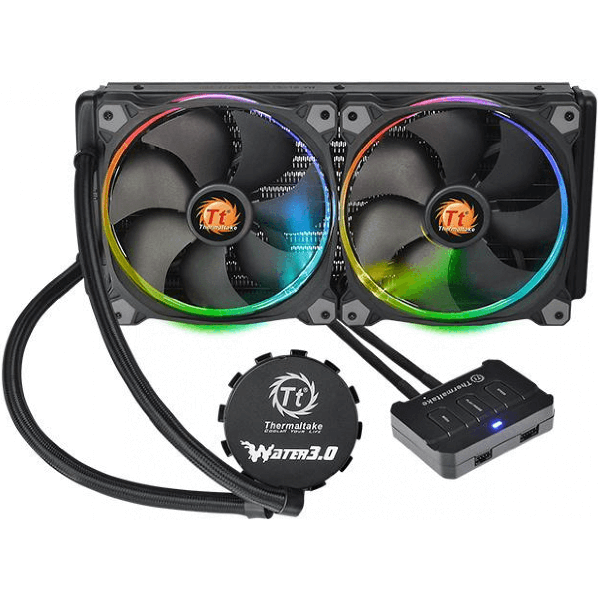 Water Cooler Thermaltake 3.0 Riing RGB 280mm Intel AMD CL-W138-PL14SW-A