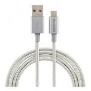 CABO USB INTELBRAS MICRO B 1,5M NYLON BRANCO EUAB15NB