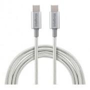CABO USB INTELBRAS TYPE C-C 1,5M NYLON BRANCO EUCC15NB