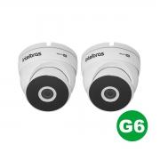 Kit 02 Câmera Dome Intelbras Vhd 3120 D G6 720p 3.6mm