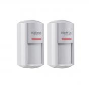 Kit 02 Sensor Externo Com Fio Intelbras Ivp 7001 Mw Ex