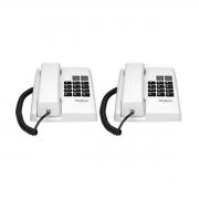 Kit 02 Telefone De Mesa Intelbras Tc50 Premium Branco