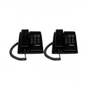 Kit 02 Telefone De Mesa Intelbras Tc50 Premium Preto