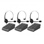 Kit 03 Telefone Headset Intelbras Hsb 50