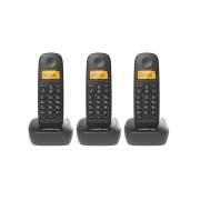 Kit 03 Telefone Sem Fio Intelbras Ts 2510 Preto
