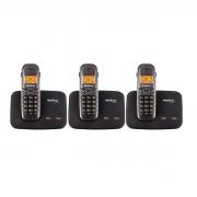 Kit 03 Telefone Sem Fio Intelbras Ts 5150
