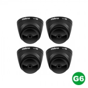 KIT 04 Câmera Multi HD VHD 1220 D G6 BLACK 1080p 2,8m