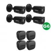 KIT 04 Câmera  VHD 1220 Black G6 1080p 3,6m + Vbox 1100 E