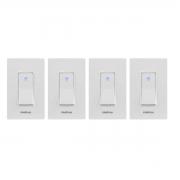 Kit 04 Interruptor Inteligente Intelbras Wi-Fi Ews 101 I