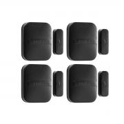 Kit 04 Sensor Magnético Intelbras Sem Fio Xas Smart Black