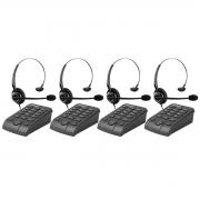 Kit 04 Telefone Headset Intelbras Hsb 50