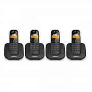 Kit 04 Telefone Sem Fio Intelbras Ts 3110 Preto
