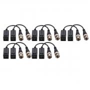 Kit 05 Conversor Balun Intelbras Vb 501p