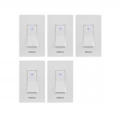 Kit 05 Interruptor Inteligente Intelbras Wi-Fi Ews 101 I