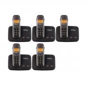 Kit 05 Telefone Sem Fio Intelbras Ts 5150