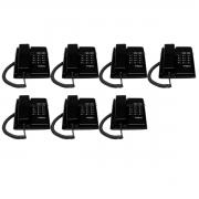Kit 07 Telefone De Mesa Intelbras Tc50 Premium Preto