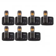 Kit 07 Telefone Sem Fio Intelbras Ts 5150