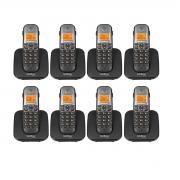 Kit 08 Telefone Sem Fio Intelbras Ts 5120