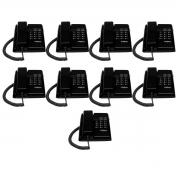 Kit 09 Telefone De Mesa Intelbras Tc50 Premium Preto
