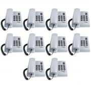 Kit 10 Telefone De Mesa Intelbras Pleno Cz Artico