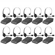 Kit 10 Telefone Headset Intelbras Hsb 50