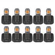 Kit 10 Telefone Sem Fio Intelbras Ts 5120