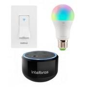 KIT ALTO FALANTE INTELBRAS SMART IZY SPEAK MINI + LAMPADA EWS 410 + INTERRUPTOR EWS 101 I