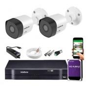 Kit CFTV 02 câmeras Vhl 1120 B + DVR 1104 C/ 1TB + Acessórios