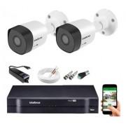 Kit CFTV 02 câmeras Vhl 1120 B + DVR 1104 S/ HD + Acessórios