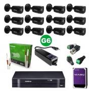 Kit CFTV 12 Câmeras VHD 1220 Black G6 +  MHDX 1116 C/HD 1TB + Acessórios