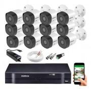 Kit CFTV 12 câmeras VHD3130 B G6 + DVR 1116 S/ HD + Acessórios